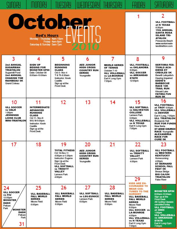 Oct 2010 calendar
