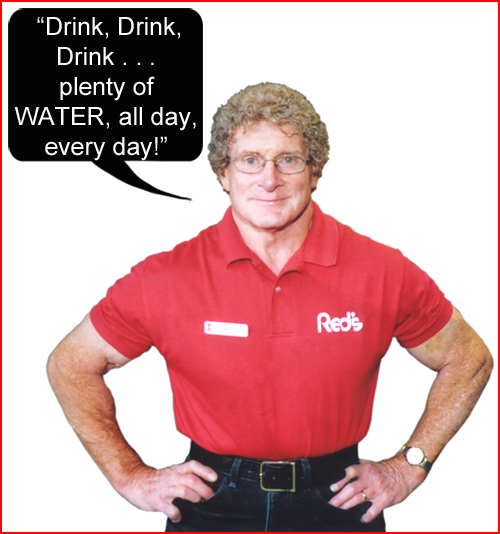 Red says water