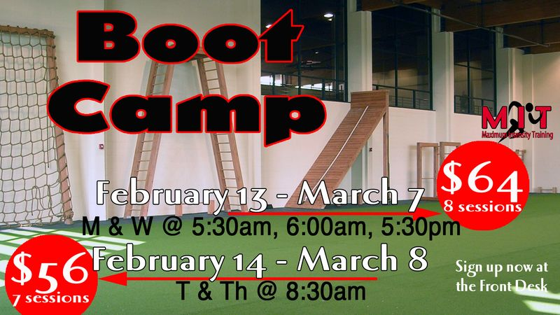 Boot Camp sign