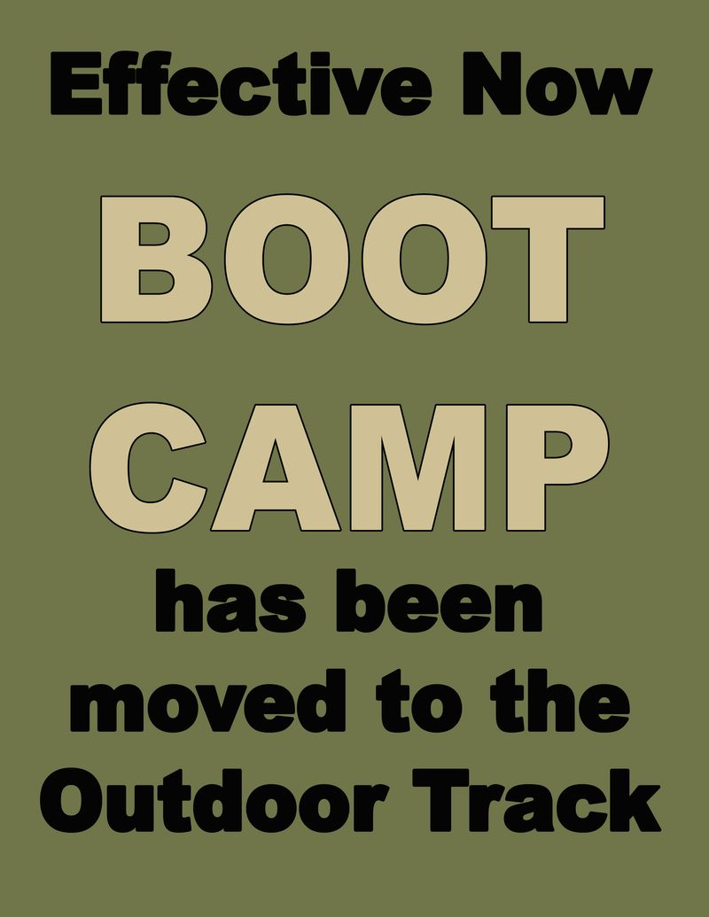 BOOT CAMP MOVED