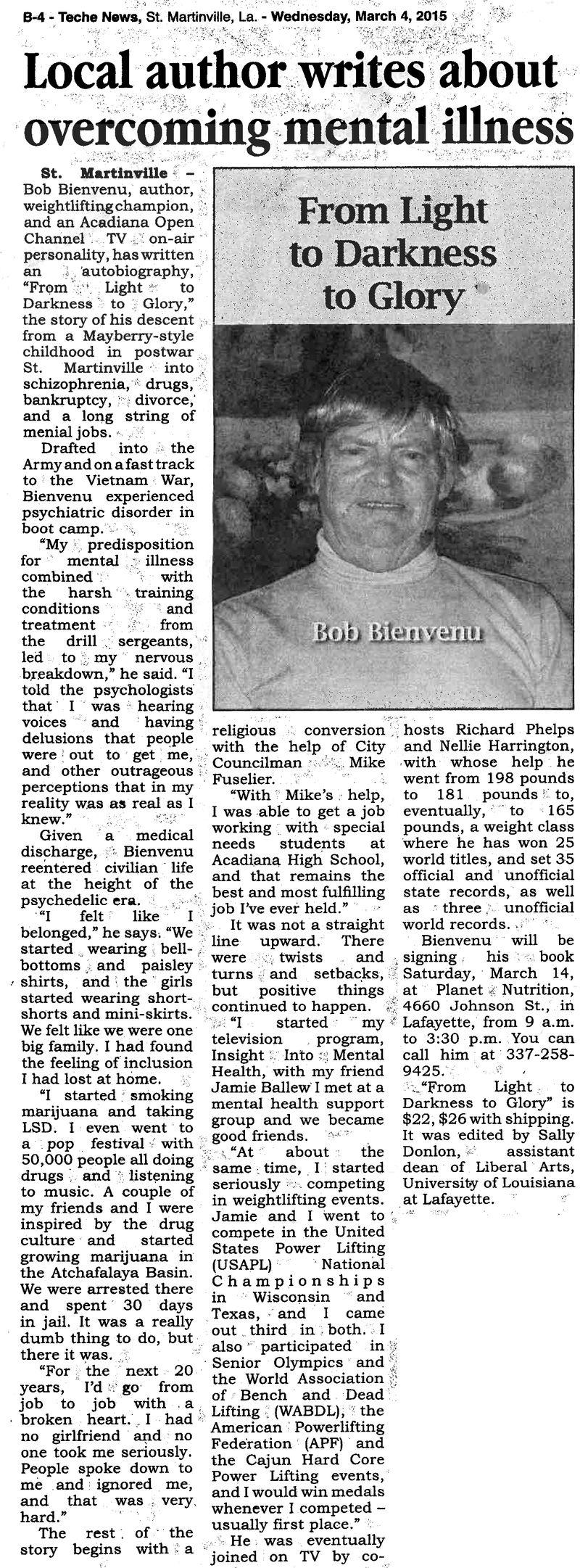 Robert bienvenu article