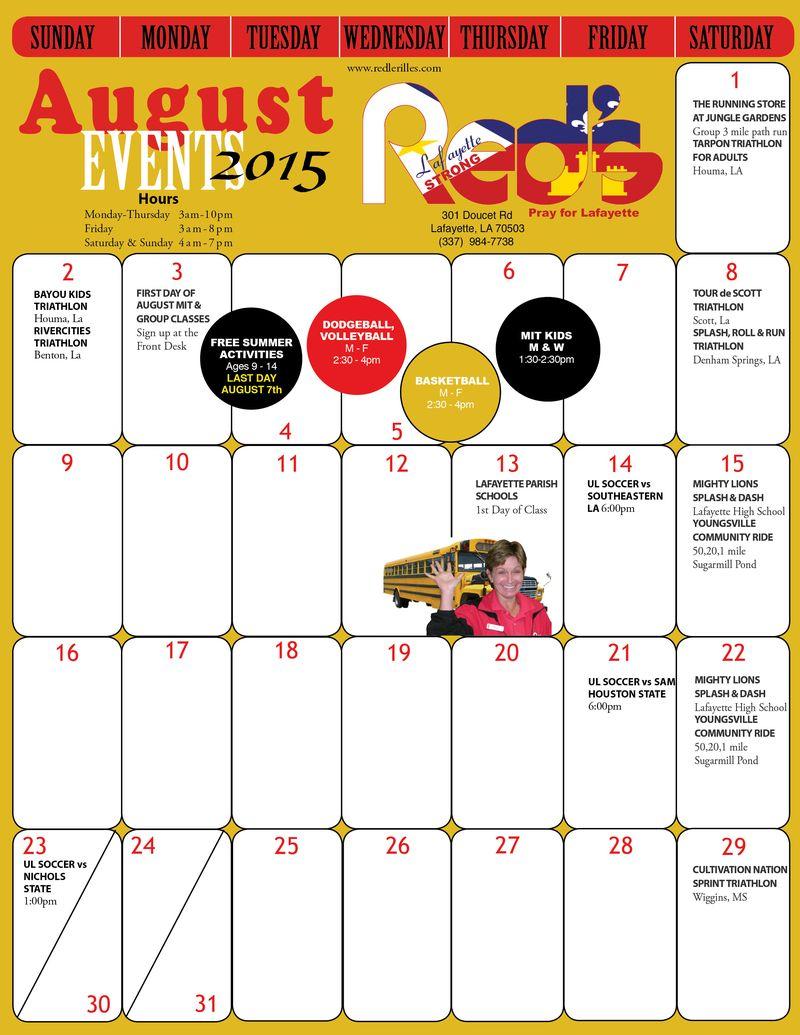 August calendar 2015