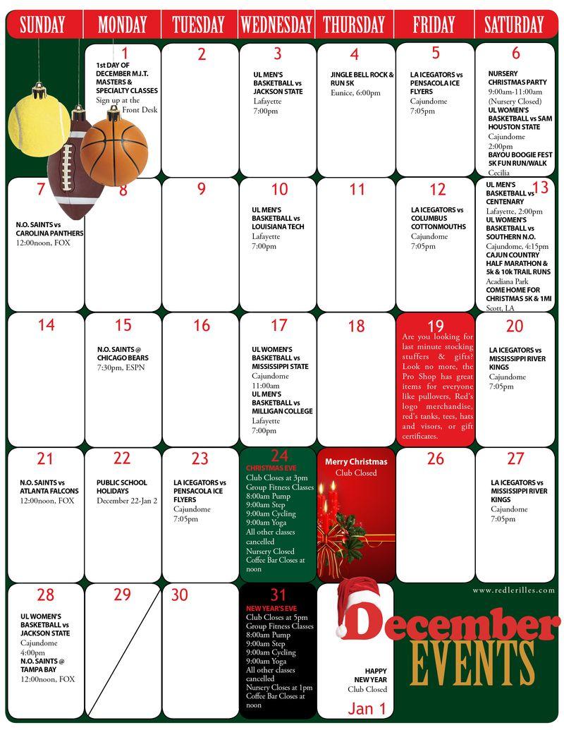 Red's December 2011 Newsletter